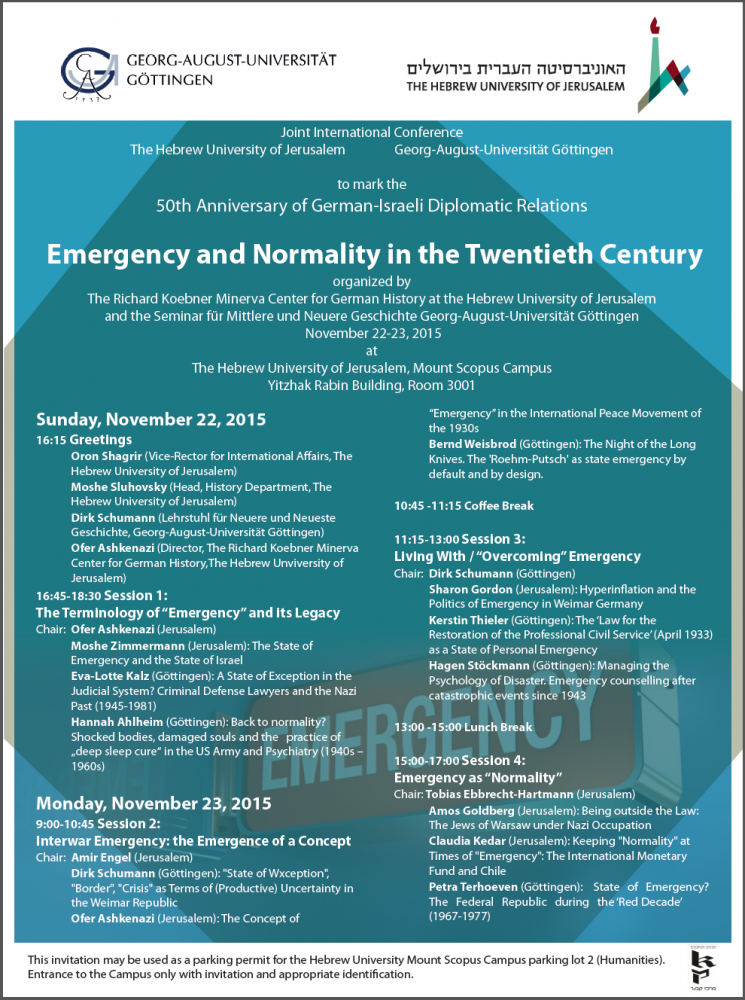 Invitation_ Conference Emergency and Normality
